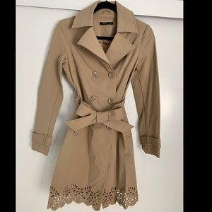 Theory Jackets & Coats - THEORY Scalloped trench coat laser cut!